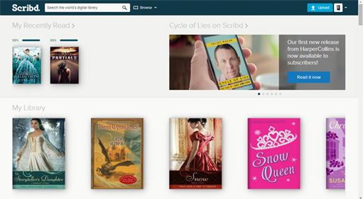 Sampling Ebook Subscription Service Scribd